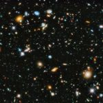 The universe is a very big place -- these are galaxies billions of light years away.