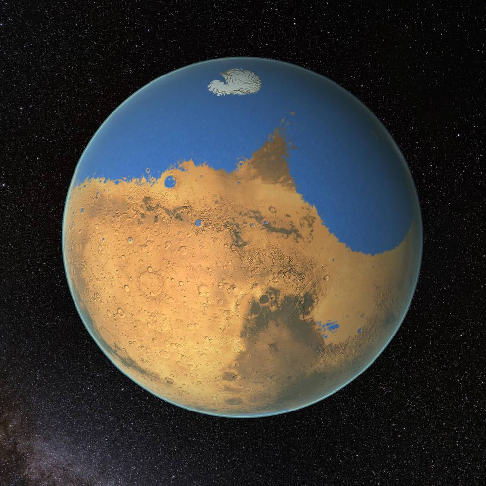 An ancient Mars once held oceans and the promise of life.