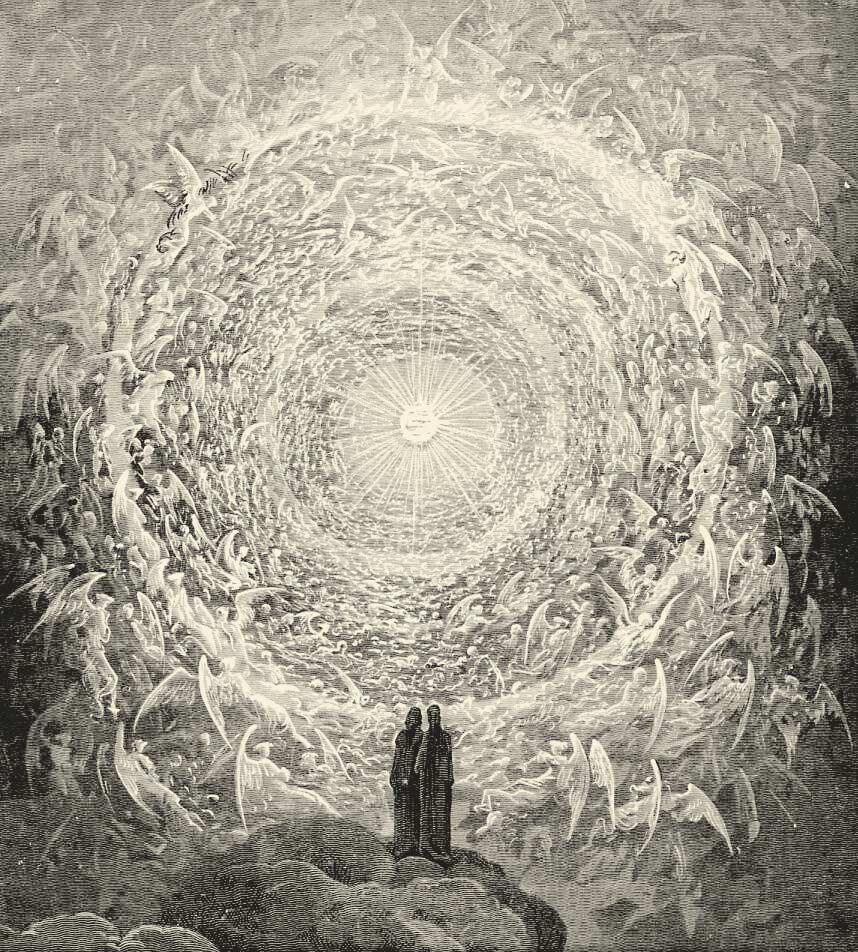 The highest Heaven as illustrated by Gustave Doré for Dante's Divine Comedy