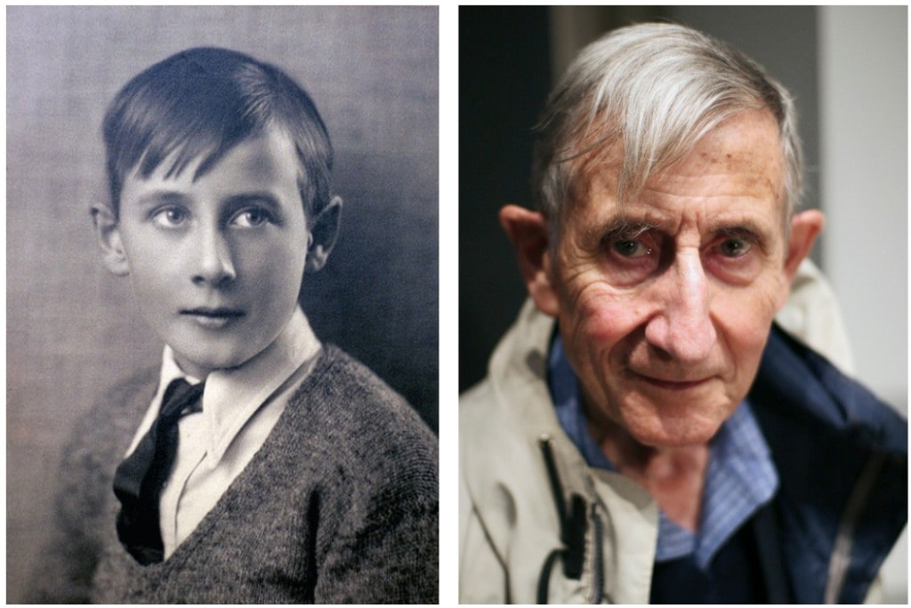 The physicist Freeman Dyson at age 10 and 82. What makes these two the same person?