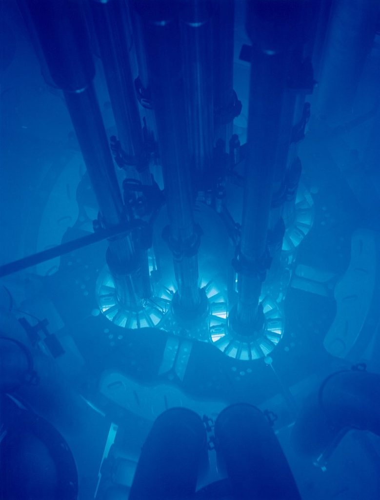 The weak force is ultimately responsible for the eerie glow surrounding nuclear reactors.