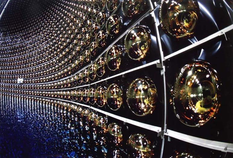 The Super-Kamiokande detector at the Kamioka Observatory in Japan.