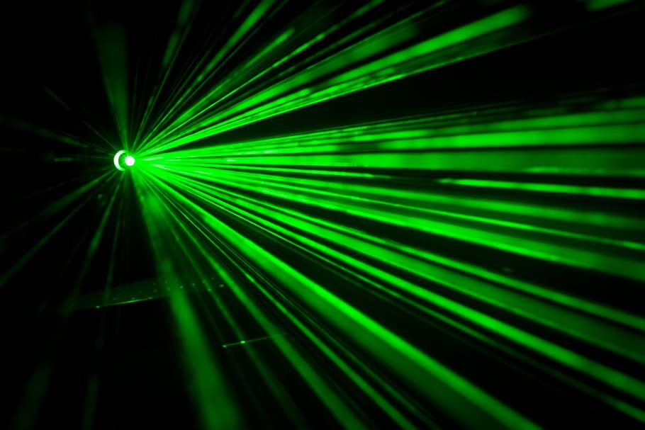 A laser beam consists of photons -- so too are all gamma rays, X-rays, ultraviolet light, visible light, infrared, microwaves, and radio waves.