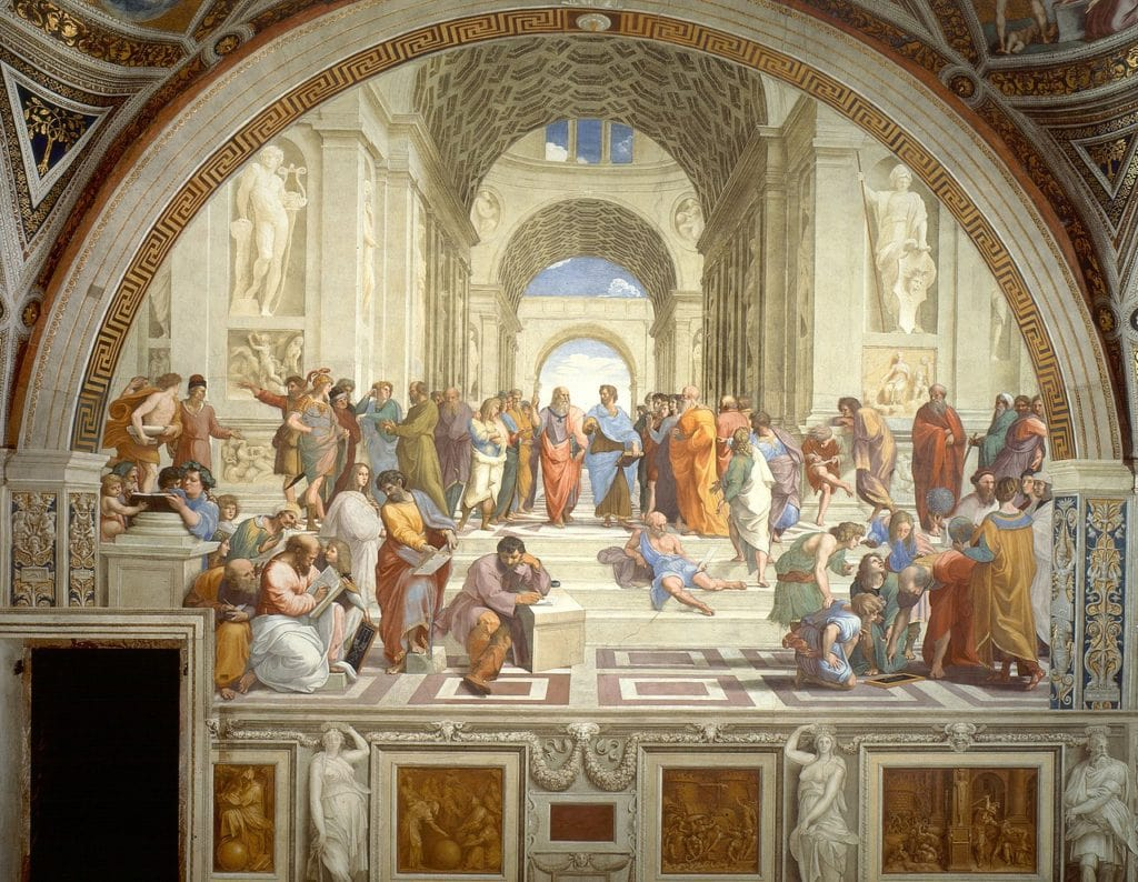 Raphael's masterpiece The School of Athens depicts philosophers at Plato's Academy (1511)
