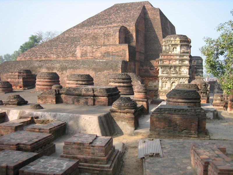 The ruins of the Nalada University, where Śāntideva taught. Image Credit: Wikipedia