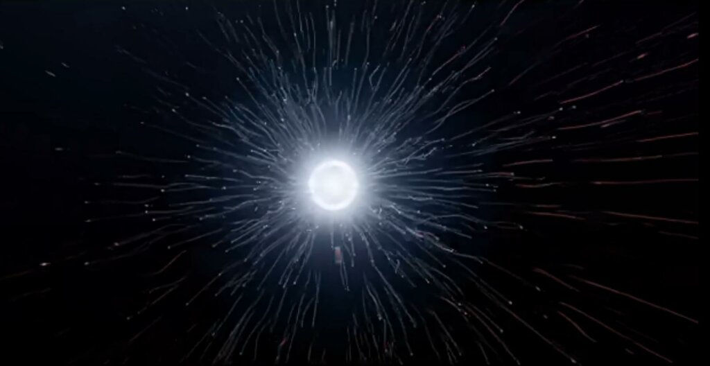 """Some day, <span class=""""katex-eq"""" data-katex-display=""""false"""">10^{100}</span> years from now, the last black hole will evaporate in a shower of subatomic particles. Will all of existence have been for naught? Image Credit: Timelapse of the future"""
