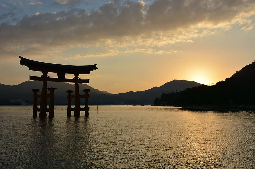 In Shinto, Torii Gates mark the entrance to the sacred.